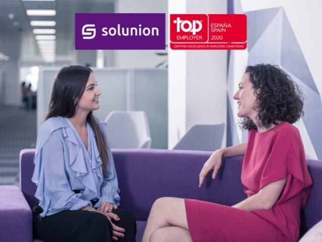 Solunion obtiene la certificación Top Employers 2020