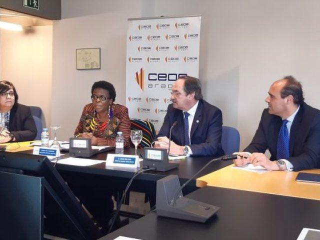 CEOE Aragón reúne a empresas aragonesas con la Embajadora de Sudáfrica en España